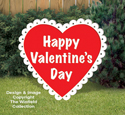 Medium Valentine Heart Wood Pattern