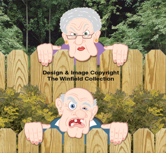 yard art woodcraft plans grumpy fence peekers wood pattern