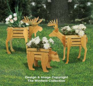 Small Cedar Animal Planter Plans