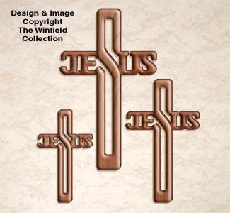Jesus Cross Scroll Saw Pattern