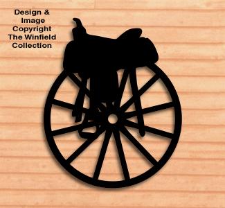 Saddle on a Wagon Wheel Shadow Pattern