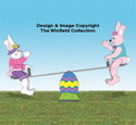 Teetering Bunny Couple and Teeter Totter Plan Set