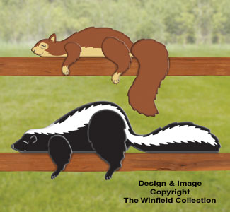 Animal Yard Display Patterns Skunk Amp Squirrel Rail Pets