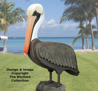 3D Life-Size Pelican Wood Pattern