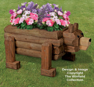 New Items Landscape Timber Bear Planter Plan
