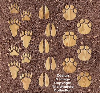 Giant Animal Print Stepping Stones Pattern