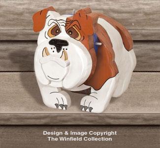 Layered Bulldog Woodcrafting Pattern