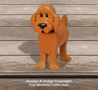 Layered Golden Doodle Woodcraft Pattern