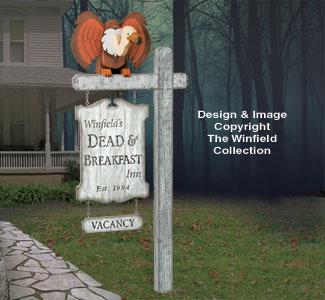 Dead & Breakfast Sign Plan