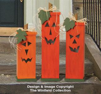 All Halloween Pumpkin Trio Wood Plans