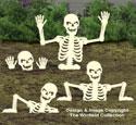 Large Rising Skeletons #2 Woodcraft Pattern