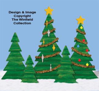 Landscape Timber Pine Trees Plan