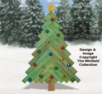 pallet wood pine tree pattern