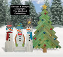 Pallet Wood Snowmen and Pine Tree Pattern Set