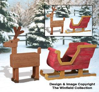 Reindeer Sleighs Pallet Wood Sleigh And Deer Plan Set