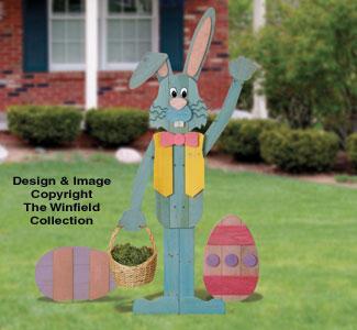 Pallet Wood Easter Bunny 'n Eggs Pattern