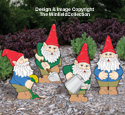 Busy Garden Gnomes Color Poster