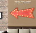 Marquee Arrow Sign Pattern