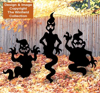 Scary Ghosts Woodcraft Pattern