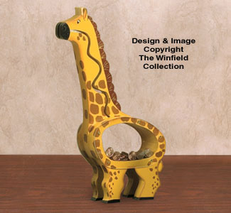 Giraffe Coin Bank Woodcraft Pattern