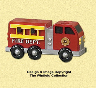 Fire Truck Woodcraft Pattern