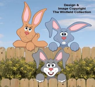 Rabbit Fence Peekers Wood Pattern