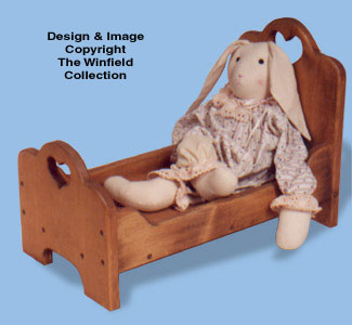 Bear & Doll Bed Wood Pattern