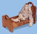 Bear & Doll Bed Wood Pattern