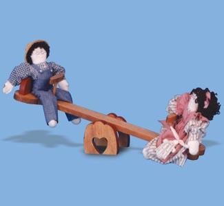 Doll Teeter Totter Woodcraft Pattern