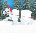 Christmas Polar Bear Woodcrafting Pattern
