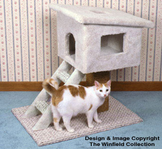 Other Decorative Indoor - Cat Tree House Wood Plans