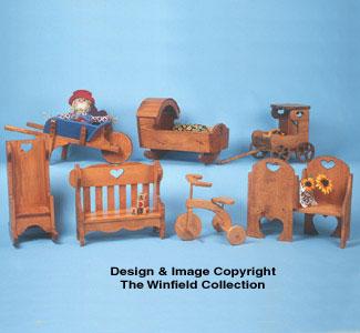 Doll Furniture Pattern Set #1