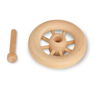 Wooden Spoke Wheel with Axle Peg
