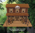Old West Saloon Birdhouse Pattern