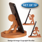 Sports Character Cell Phone Stands Pattern Set - Downloadable