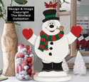 Tabletop Dancing Snowman Pattern
