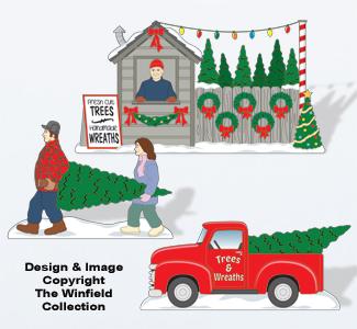 Christmas Village Tree Lot Pattern