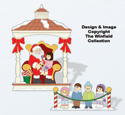 Christmas Village Visiting Santa Pattern