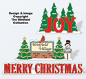 Christmas Village Displays Pattern