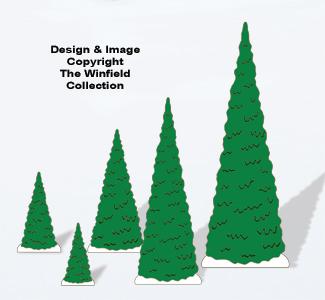 Christmas Village Evergreen Trees Pattern