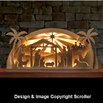 Lighted Arched Nativity Pattern