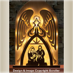 Lighted Angel Nativity Scroll Saw Pattern