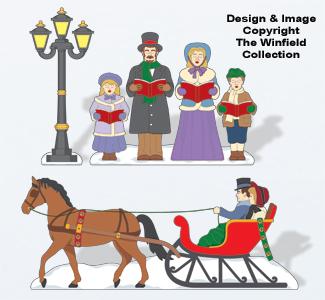 Christmas Village Victorian Christmas Color Poster