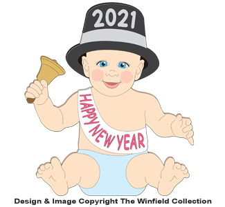 New Years Baby Pattern (Medium)