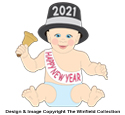 New Years Baby Pattern (Large)