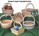 Wooden Basket Design Pattern Set
