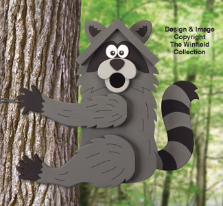 Climbing Raccoon Birdhouse Pattern