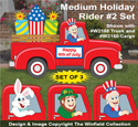 Medium Holiday Rider #2 Pattern Set