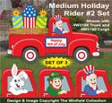Medium Holiday Rider #2 Pattern Set - Downloadable