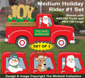Medium Holiday Rider #1 Pattern Set - Downloadable